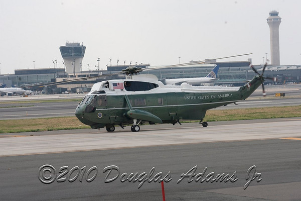 President Obama at Newark Airport