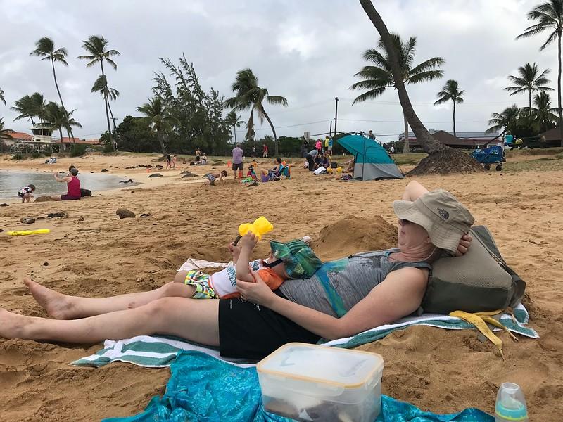Asher & Grandma Mitzi Poipu Beach