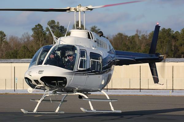 """HeloAir 1981 Bell 206-B3 """"Jet Ranger"""", Richmond, 10Dec17"""