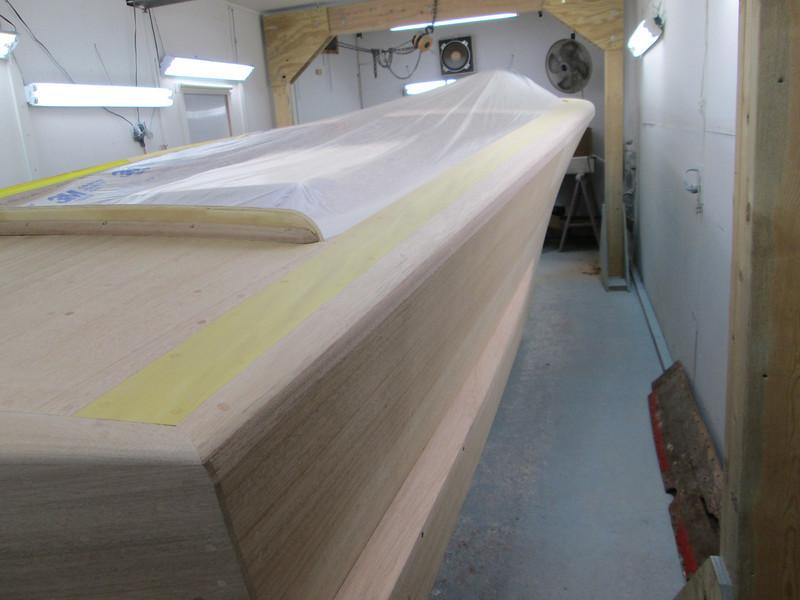 Starboard side cover board.