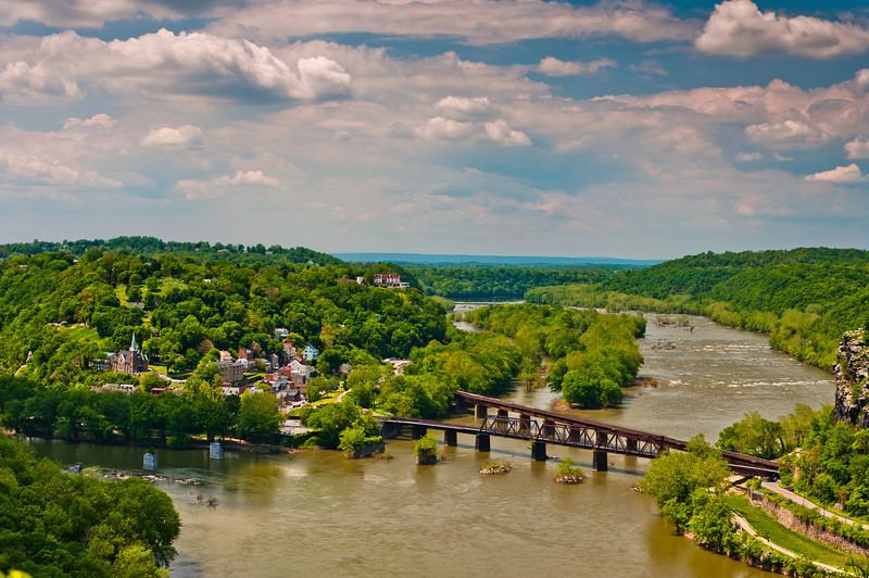 View of Harper's Ferry West Virginia from Maryland Heights