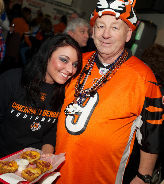 Ashley and Randy at Jerzees for the Bengals game Saturday