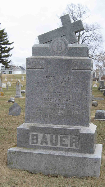 George and Margaretha Bauer Headstone
