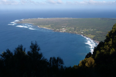 Kalaupapa Peninsula from Lookout - Site of Historic Leper Colony