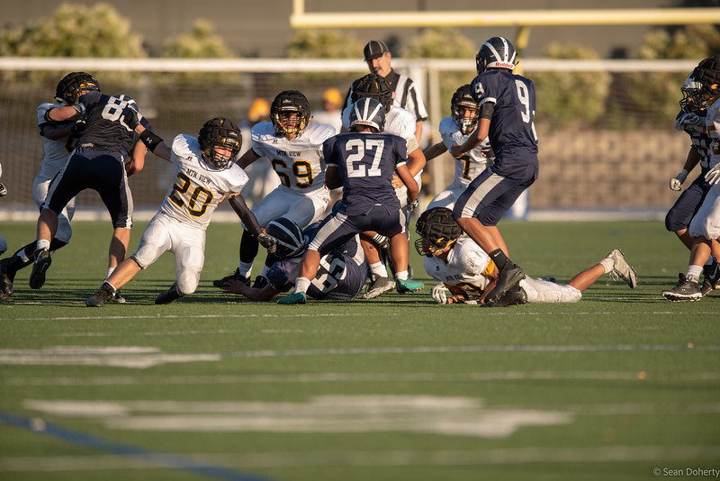 Taken at a High School Football game between Mountain View Spartans and the Carlmont Scots at Carlmont High School Belmont California on 9-7-18