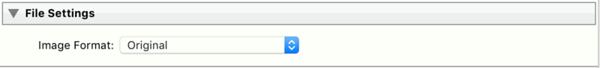 Export Settings - File Setting Original