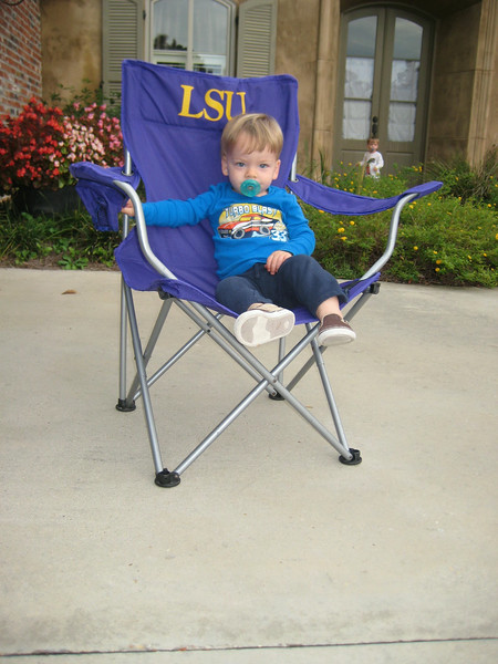 Miles in the LSU chair