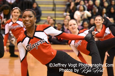 2-13-2016 Montgomery Blair HS Varsity Poms at Blair HS MCPS Championship, Photos by Jeffrey Vogt Photography with Kyle Hall