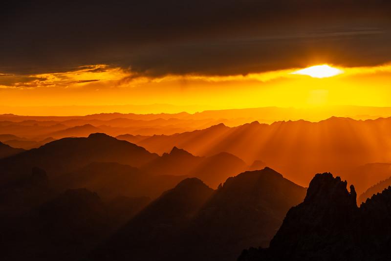 (2021 January 18-19) Kofa Queen Canyon to Peak 4,220'.  Kofa NWR, Arizona.