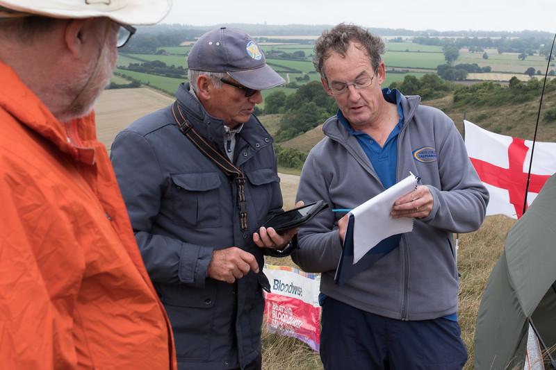 John Treble, Pete Burgess and organiser Stu Wallace