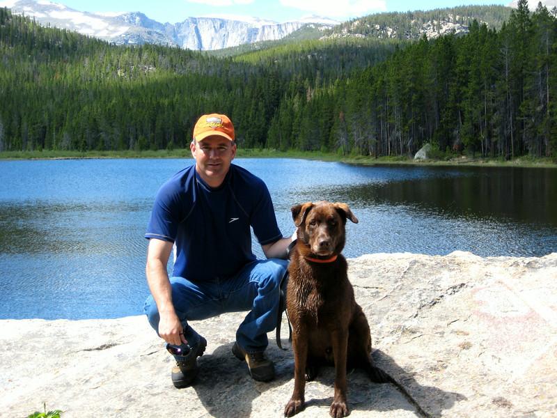 Stan & Drake at Roaring Fork Lake.JPG