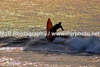 Surfing, Gilgo Beach, NY,  (1-28-07)