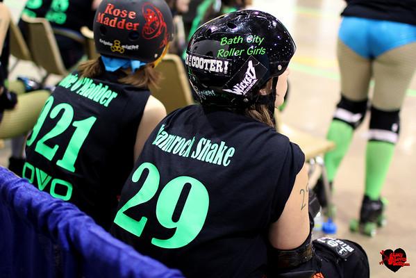 2013 Bath City - 3.16.13 - Blarney Bashers vs. Chemical City Derby Girls  St. Patty's Day Bout