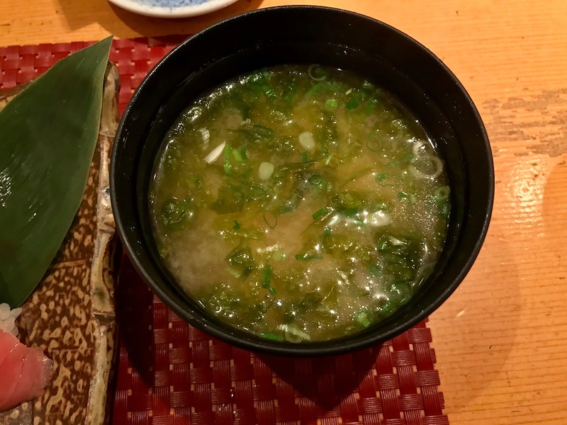 All sets come with miso soup with green scallions and seaweed.