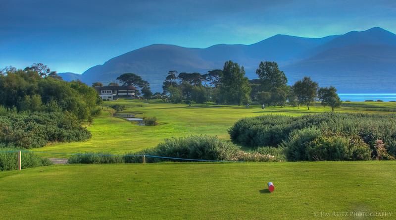 The 18th at Killarney's Killeen Course - a fun finishing hole.