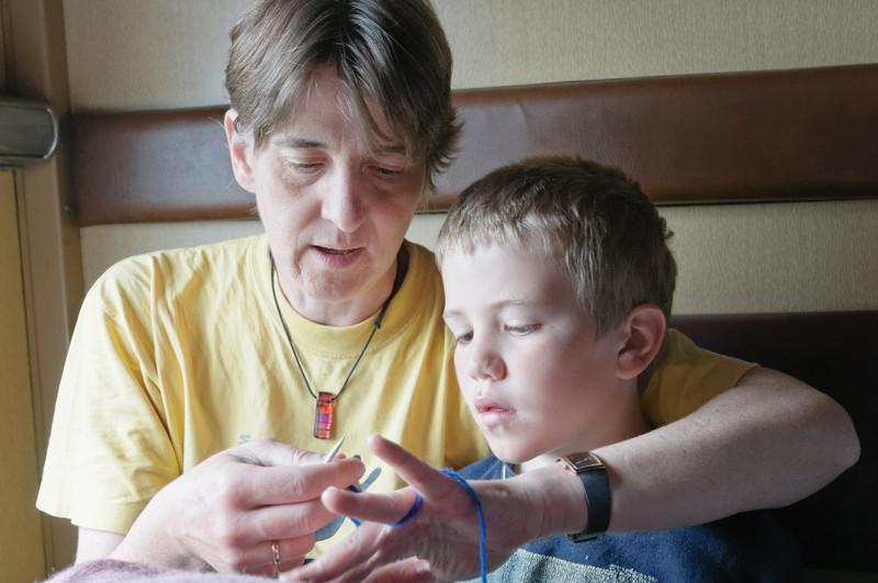 Richard lernt Stricken.