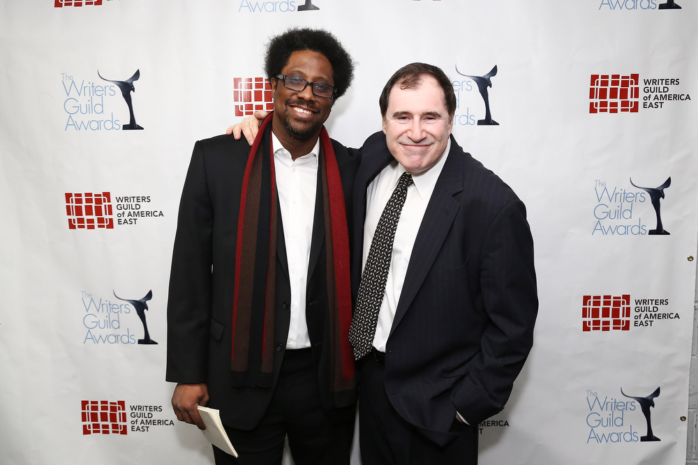Description of . Comedian W. Kamau Bell (L) and actor Richard Kind pose backstage at the 65th annual Writers Guild East Coast Awards at B.B. King Blues Club & Grill on February 17, 2013 in New York City.  (Photo by Neilson Barnard/Getty Images)
