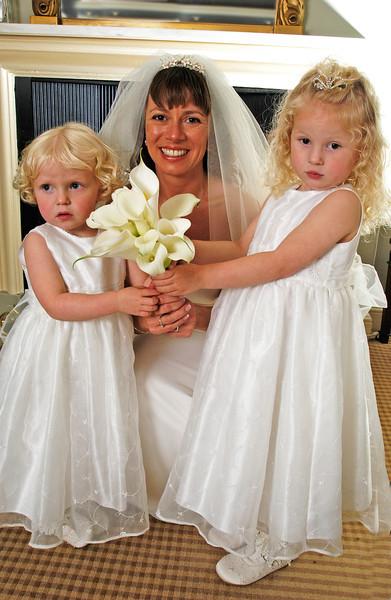 Bride with brides maids,Christchurch,Dorset