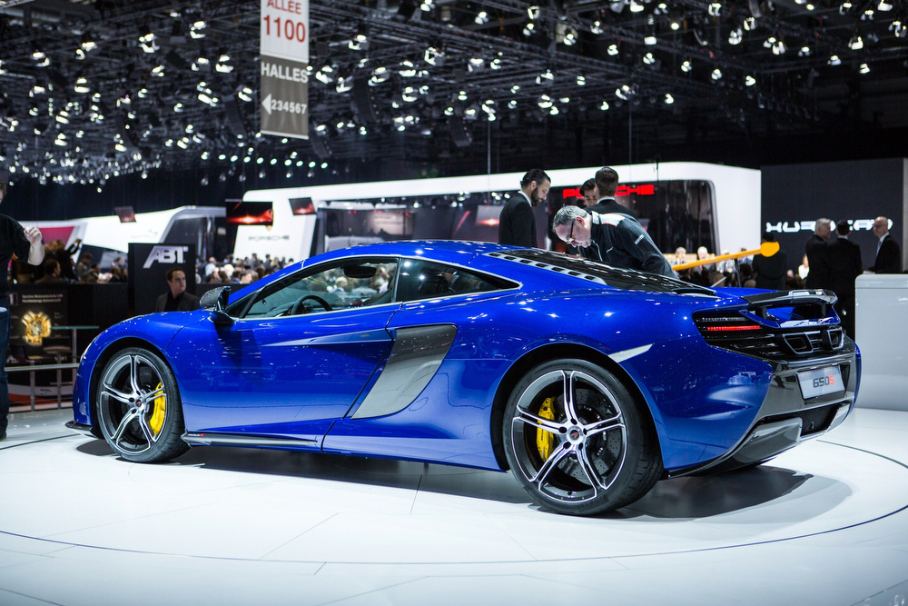 Description of . The 2015 McLaren 650s is presented at the Geneva Motor Show in Geneva, Switzerland, on March 4, 2014. AFP PHOTO / PIERRE ALBOUYPIERRE ALBOUY/AFP/Getty Images