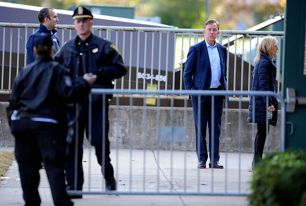 10/26/2018 Mike Orazzi | Staff Ned Lamont before former Vice President Joe Biden's visit to campaign for fellow democrats in Hartford on Friday.