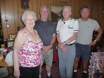 Nancy (Pratt); William Kenneth Gloodt II, Bill Gloodt and John Gloodt - at home in Palos Park, Illinois