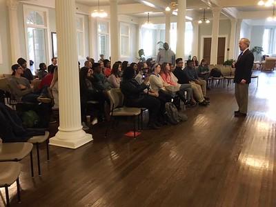 Congressman Jim Cooper congratulates students