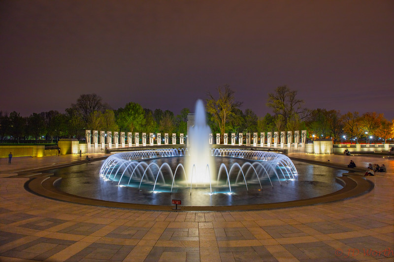042118 Washington DC - WWII Memorial -Fountains European Theater View Night Exposure Layer Mask Watermark-2240.jpg