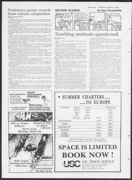 Daily Trojan, Vol. 98, No. 37, March 06, 1985