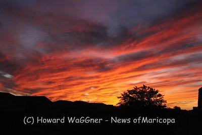 Sunset over Maricopa 11-1-11