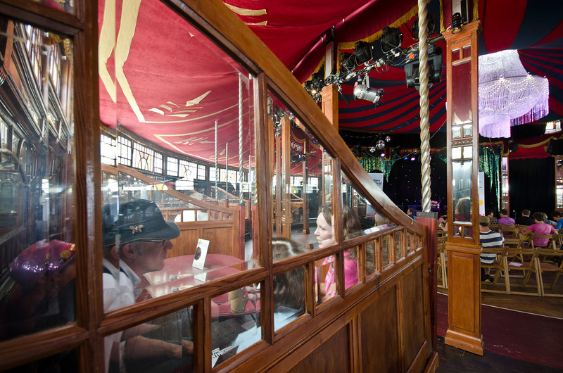 The Famous Spiegel Tent (Tent of Mirrors), the 1920's location for Caro's conversations with performers at the Sydney Festival