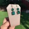 Georgian Double Drop Emerald Paste Earrings 22