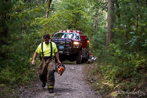 Medfield, MA Rocky Woods Brush fire 9/22/2020