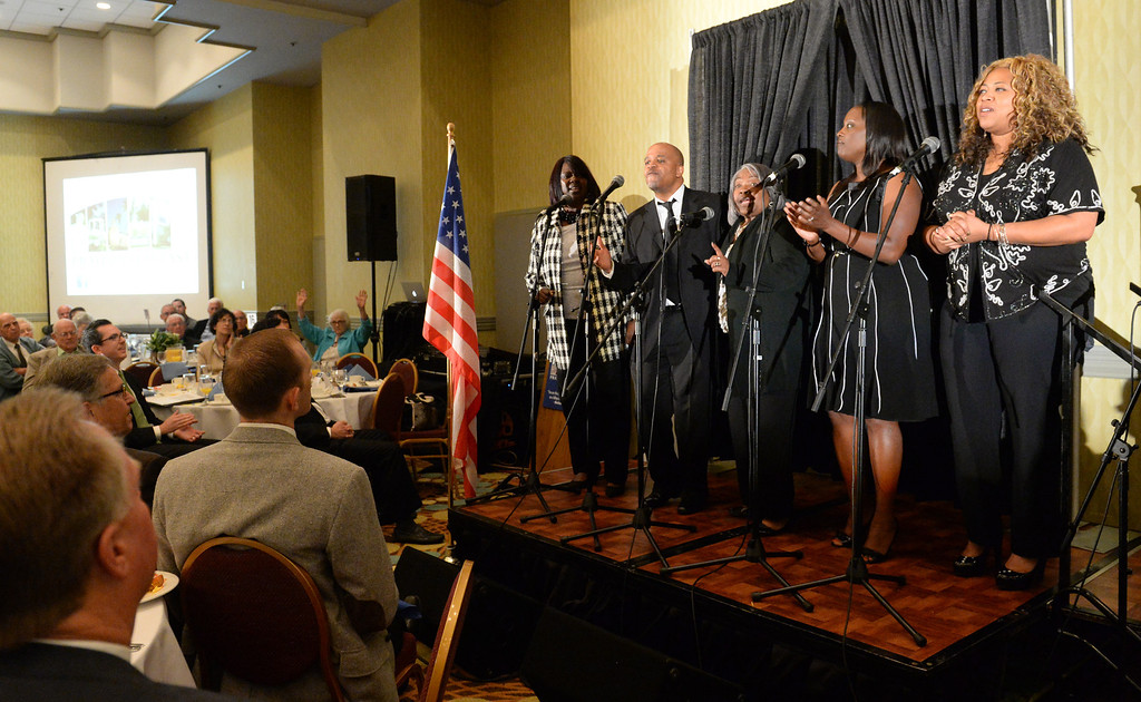 . The Zoe Christian Fellowship Worship Team performs during the 49th annual Mayor�s Prayer Breakfast at the Radisson Hotel Whittier on Friday April 18, 2014. The prayer breakfast is modeled after the National Prayer Breakfast in Washington D.C. and was started in Whittier in 1965 . (Staff Photo by Keith Durflinger/Whittier Daily News)