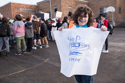 Hosford Middle School Students Add Their Voices to National Walkout