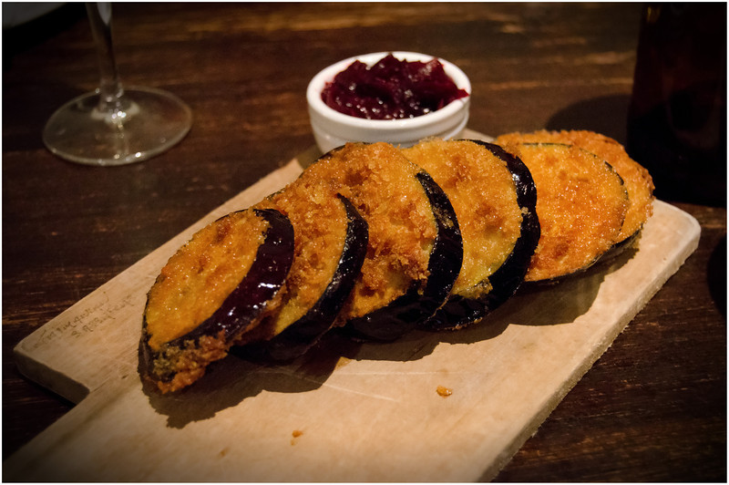 Eggplant wedges and beetroot jam @ Raincheck Lounge