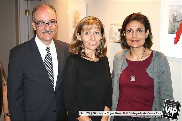 Gioconda Rojas Howell @ Embajada de Costa Rica | Wed, Sep 25