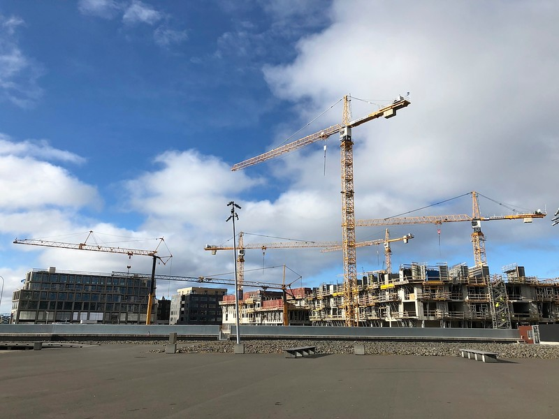 Construction boom in Reykjavik - a lot of new construction vs 3 years ago