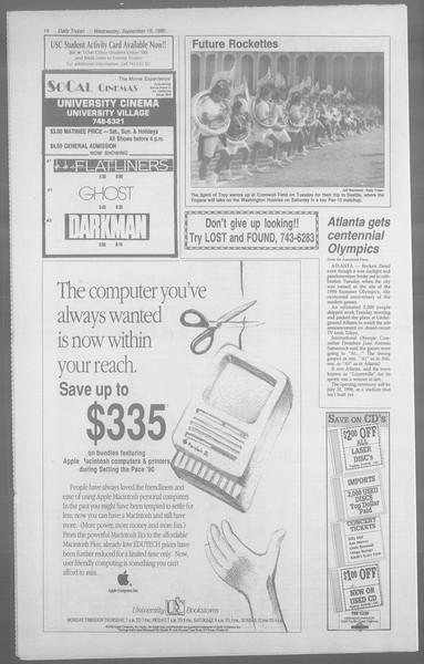 Daily Trojan, Vol. 113, No. 12, September 19, 1990