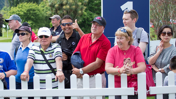 Sam Govind in the crowd enjoying the golf on the final day of the Asia-Pacific Amateur Championship tournament 2017 held at Royal Wellington Golf Club, in Heretaunga, Upper Hutt, New Zealand from 26 - 29 October 2017. Copyright John Mathews 2017.   www.megasportmedia.co.nz