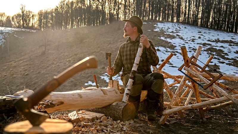 Cezar cabana primavara lemn mesterit.jpg