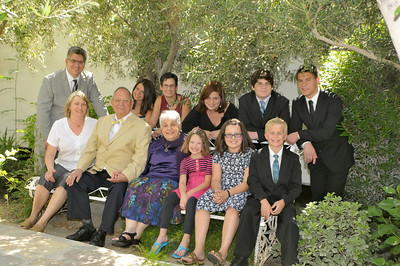 Coffey Family Portraits during 50th Anniversary Celebration - St. Theresa's Church, Palm Springs, CA
