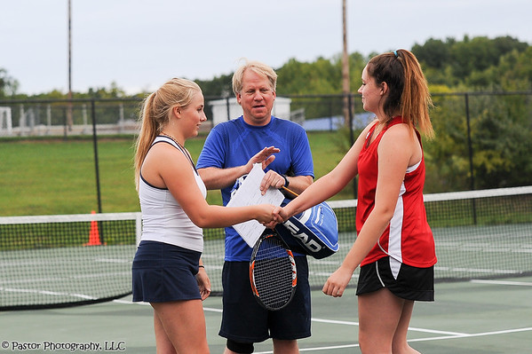JV Tennis Action