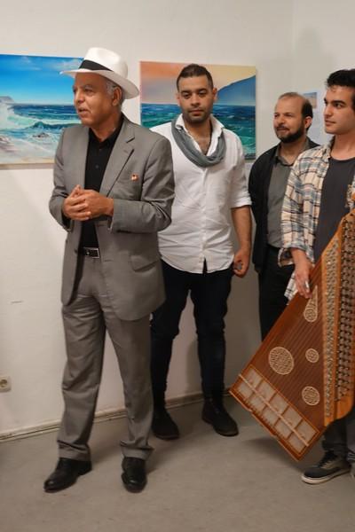 Art History Professor Abdullah of Leipzig spoke at the opening