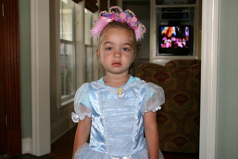 Cinderella's in a bad mood.