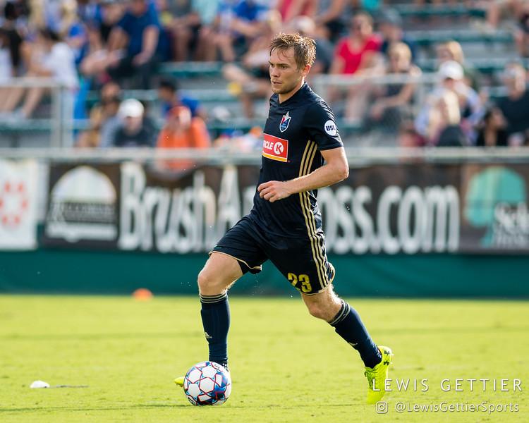 North Carolina FC midfielder Zach Steinberger (23)