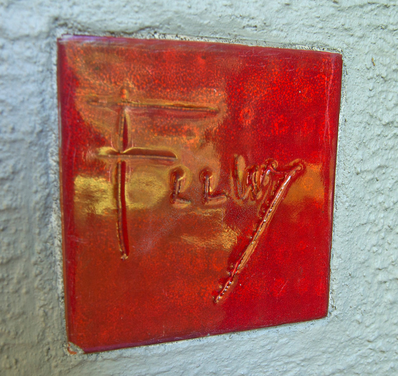 . Duncan Scott/DScott@News-Herald.com Frank Lloyd Wright\'s signature red tile on the Louis Penfield House in Willoughby Hills.