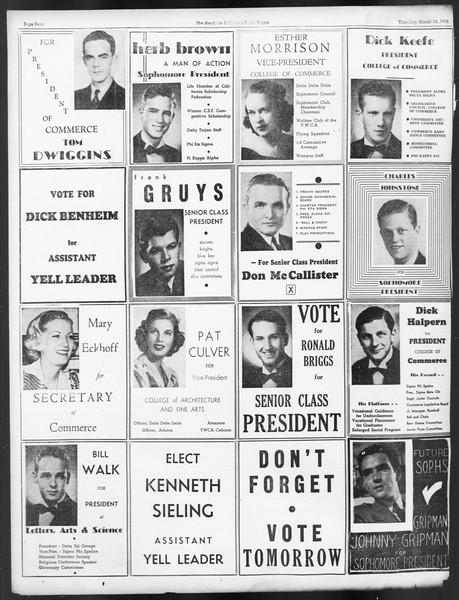 Daily Trojan, Vol. 29, No. 105, March 24, 1938