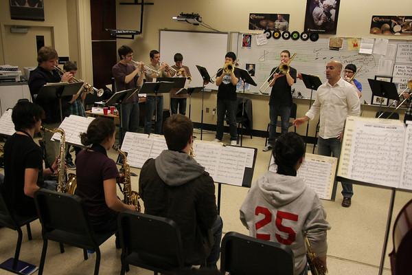 Lower Moreland Jazz rehearsal