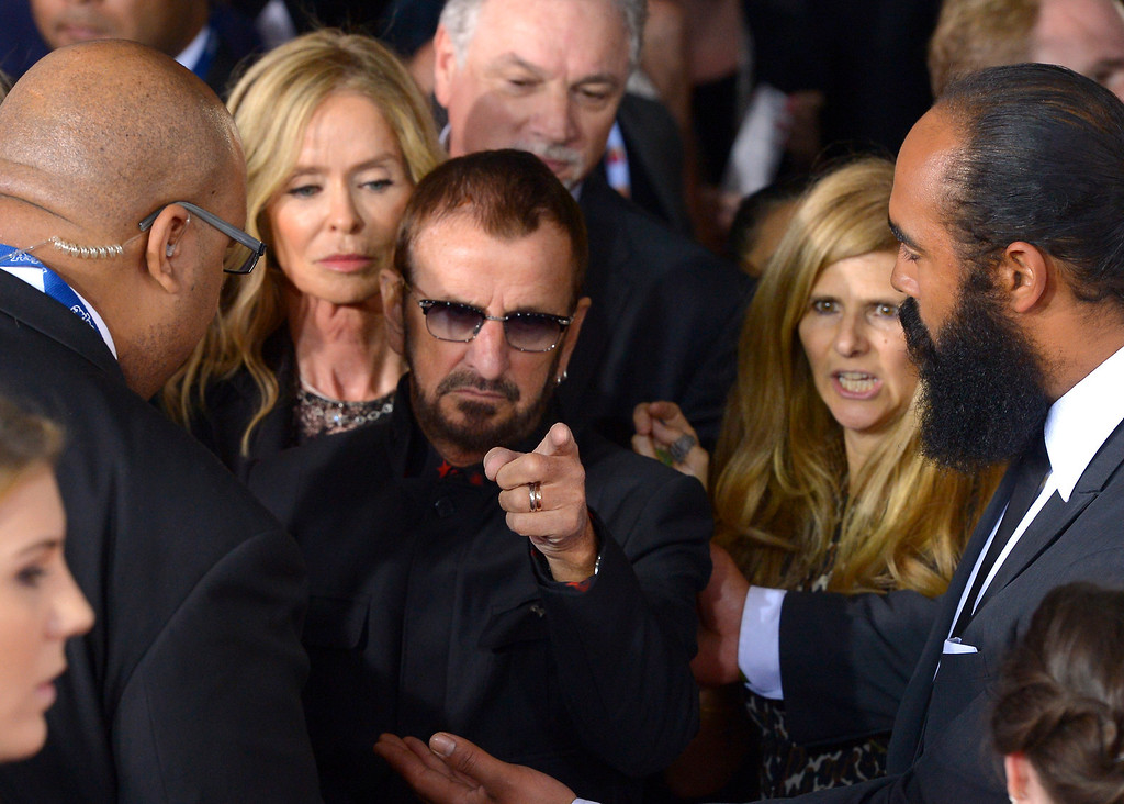 . Ringo Starr arrives at the 56th Annual GRAMMY Awards at Staples Center in Los Angeles, California on Sunday January 26, 2014 (Photo by David Crane / Los Angeles Daily News)