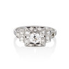 0.58ctw Old European Cut Diamond Art Deco Illusion Ring 0